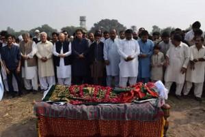 ممبر پنجاب اسمبلی سید علی رضا شاہ کی نماز جنازہ ادا کر دی گئی