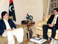 نئے منتخب وزیراعلی سندھ سید مراد علی شاہ کی بلاول بھٹو زرداری سے ملاقات