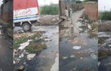 گلی محلوں میں گندے پانی کے تالاب ، بیماریاں پھیلانے کا سبب
