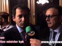 Atif Khan education minister KPK talk to Naye Awaz
