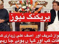 Breaking News … Meeting between Nawaz Sharif and Asif Zardari